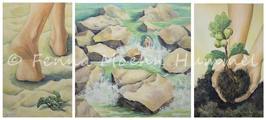 Atelier for hope schilderijen in opdracht bijbelse schilderijen schilderij de bron drieluik - Bron schilderijen ...