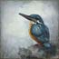 painting birds, Kingfisher Atelier for Hope